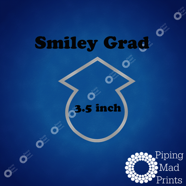 Smiley Grad 3D Printed Cookie Cutter - 3.5 inch - Piping Mad Prints - Green Bros Collective