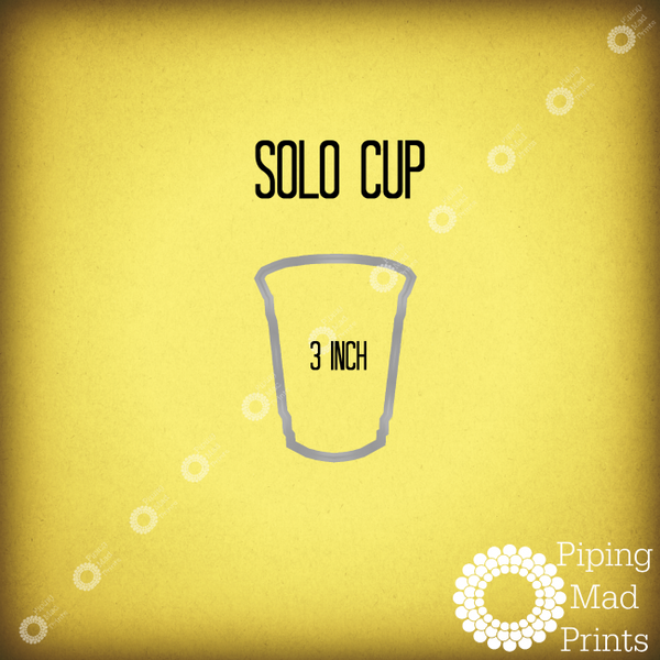 Solo Cup 3D Printed Cookie Cutter - 3 inch - Piping Mad Prints - Green Bros Collective