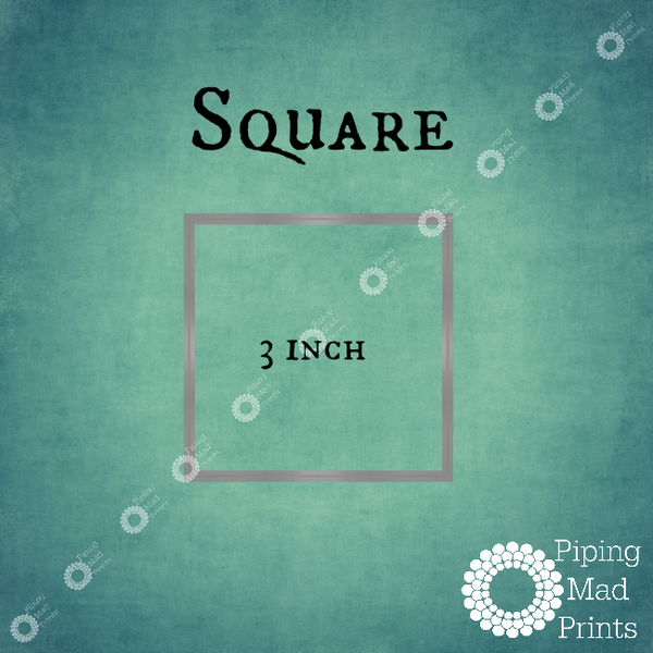 Square 3D Printed Cookie Cutter - 3 inch - Piping Mad Prints - Green Bros Collective