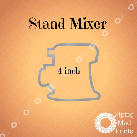 Stand Mixer 3D Printed Cookie Cutter - 4 inch - Piping Mad Prints - Green Bros Collective