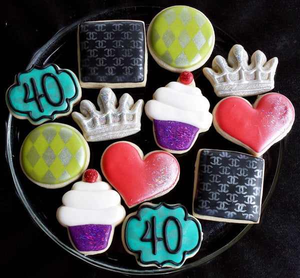 Mini Celebration 3D Printed Cookie Cutter Set of 10 - 1-3.5 inch