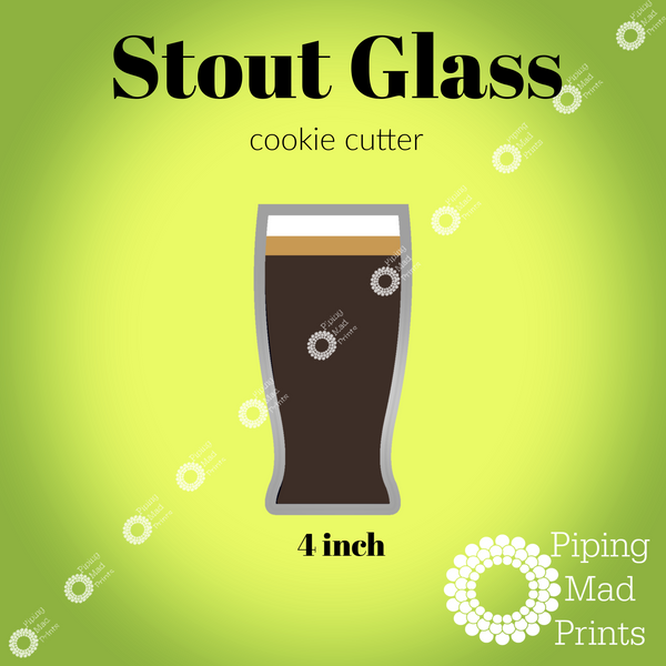 Stout Glass 3D Printed Cookie Cutter - 4 inch
