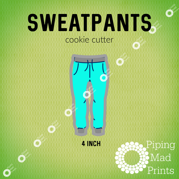 Sweatpants 3D Printed Cookie Cutter - 4 inch