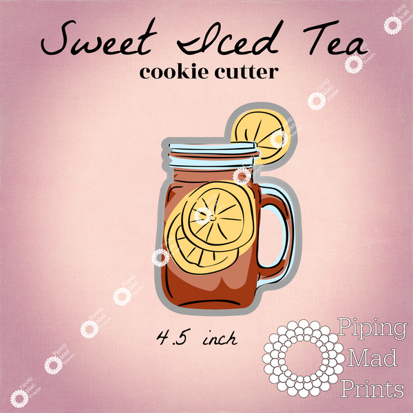 Sweet Iced Tea 3D Printed Cookie Cutter - 4.5 inch