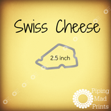 Swiss Cheese 3D Printed Cookie Cutter - 2.5 inch - Piping Mad Prints - Green Bros Collective