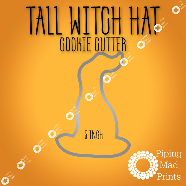 Tall Witch Hat 3D Printed Cookie Cutter - 5 inch