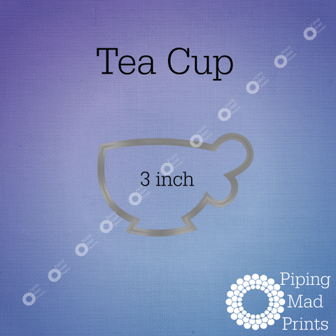 Tea Cup 3D Printed Cookie Cutter - 3 inch - Piping Mad Prints - Green Bros Collective