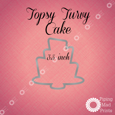 Topsy Turvy Cake 3D Printed Cookie Cutter - 3.5 inch - Piping Mad Prints - Green Bros Collective