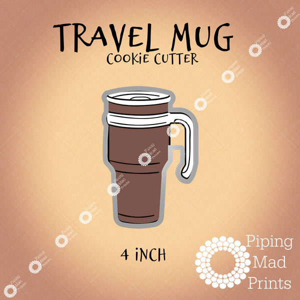 Travel Mug 3D Printed Cookie Cutter - 4 inch
