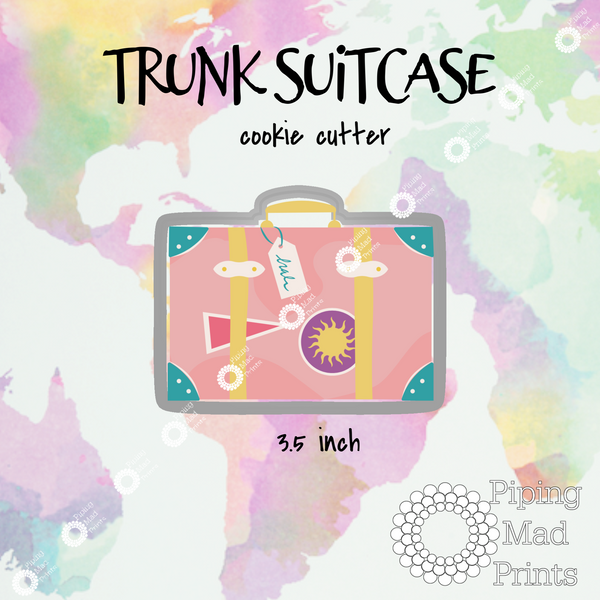 Trunk Suitcase 3D Printed Cookie Cutter - 3.5 inch