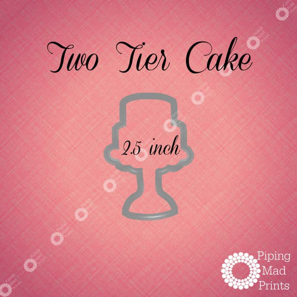 2 Tier Cake 3D Printed Cookie Cutter - 2.5 inch - Piping Mad Prints - Green Bros Collective
