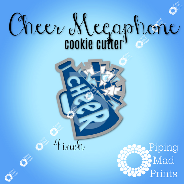 Cheer Megaphone 3D Printed Cookie Cutter - 4 inch