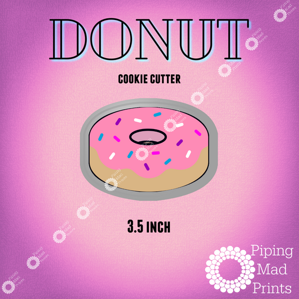 Donut 3D Printed Cookie Cutter - 3.5 inch