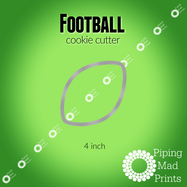 Football 3D Printed Cookie Cutter - 4 inch