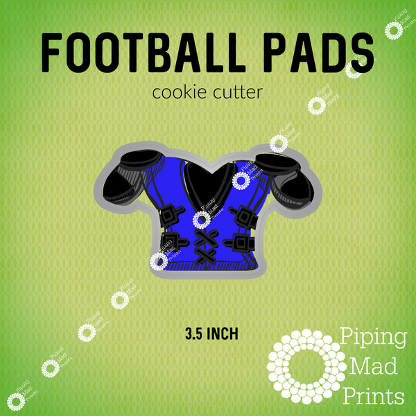 Football Pads 3D Printed Cookie Cutter - 3.5 inch