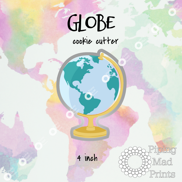 Globe 3D Printed Cookie Cutter - 4 inch