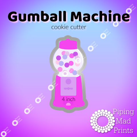 Gumball Machine 3D Printed Cookie Cutter - 4 inch