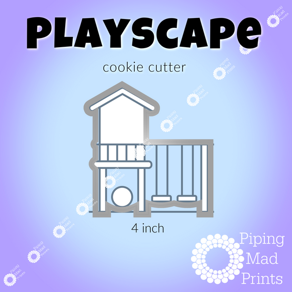 Playscape 3D Printed Cookie Cutter - 4 inch
