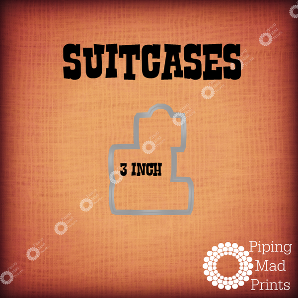 Suitcases 3D Printed Cookie Cutter - 3 inch - Piping Mad Prints - Green Bros Collective