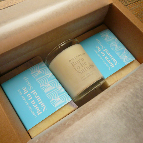 Especially for you. Two Luxury Soaps and One Votive Candle