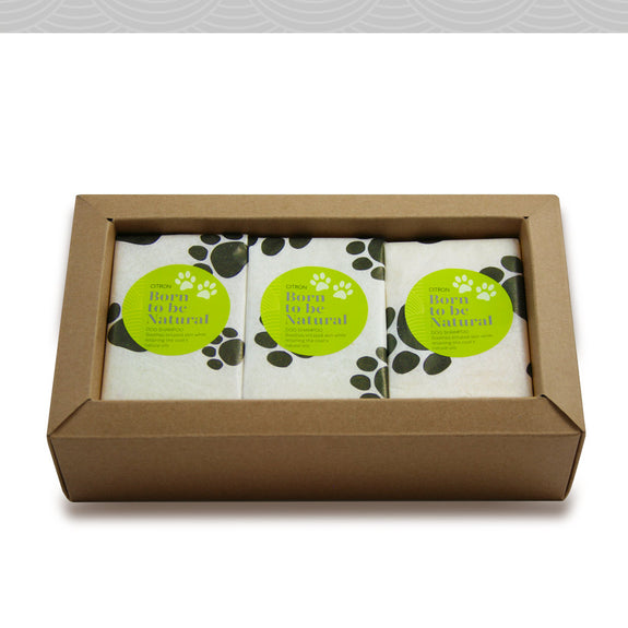 Dog Shampoo Gift Box. Three vegan soaps