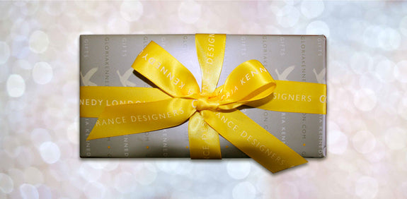 Gift wrapped luxury candles half price