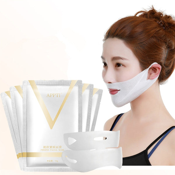 1pcs 4D Double V Face Shape Tension Firming Face Mask