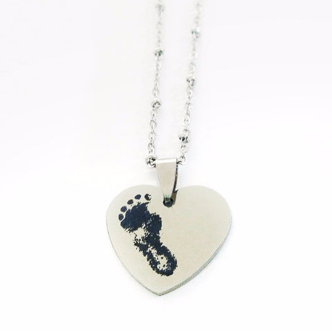 Baby Memorial Heart Necklace