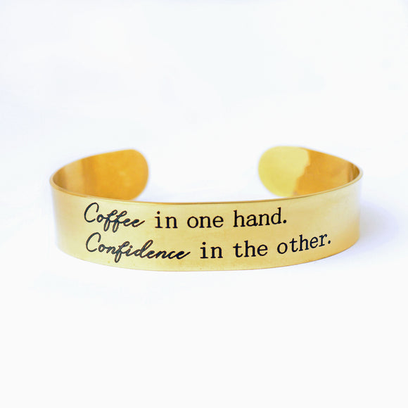 Coffee in one hand Cuff Bracelet