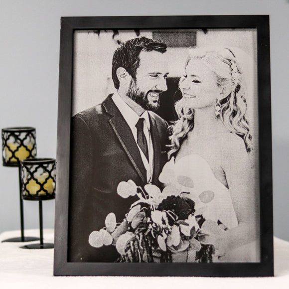 First Anniversary Paper Gift Engraved Portrait