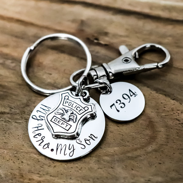 Police Support Keychain