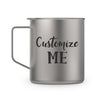 Silver 14oz Mug (Black Text)