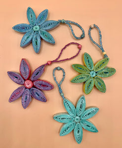 Handcrafted Paper Flower Ornaments