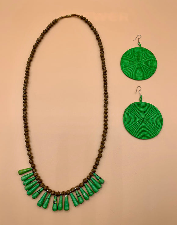 Paper Necklace & Earring Gift Set