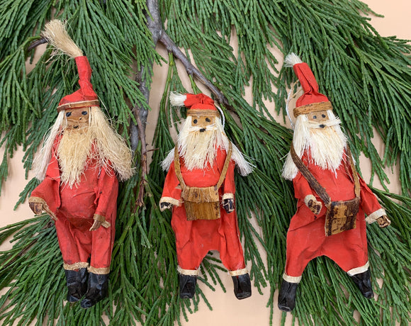 Handcrafted Santa Ornaments