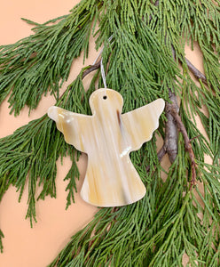 Handcrafted Cowhorn Angel Ornament