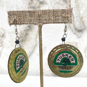 Beer Bottle Cap Earrings