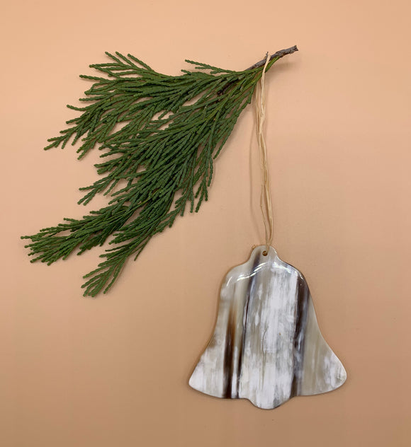 Handcrafted Cowhorn Bell Ornament