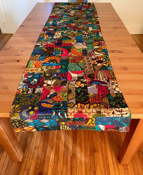 Reversible Quilted Ankara Table Runner