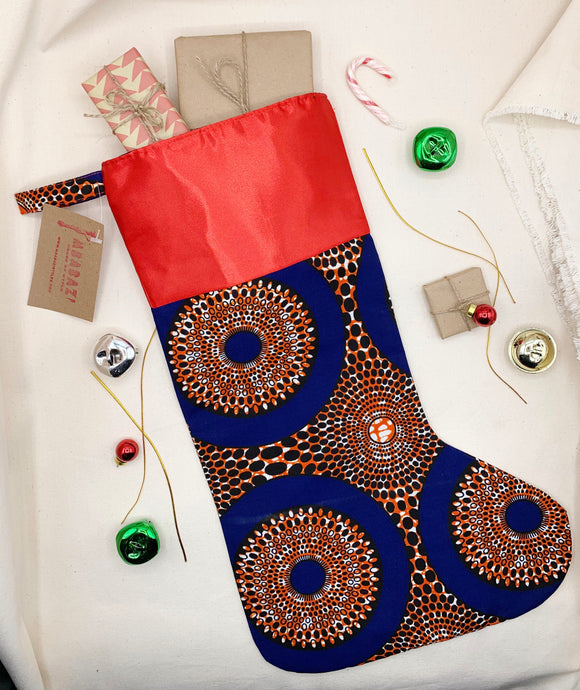 Ankara Christmas Stocking - Pattern K