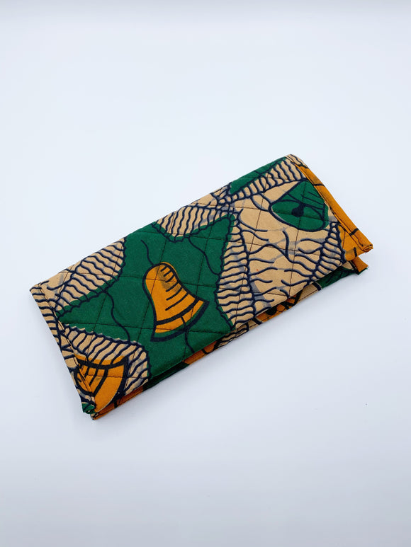 Quilted Ankara Wallet/Yellow