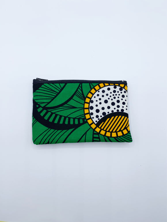 Quilted Ankara Zipper Pouch