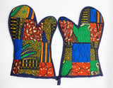 Quilted Patchwork Oven Mitts