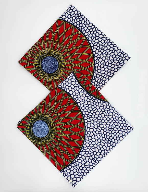 Ankara Napkins - Set of 2/Blue & Red
