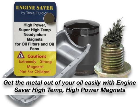 Engine saver oil filter magnets