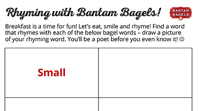 Rhyming with Bantams