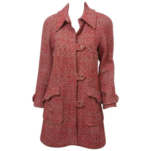 Chanel Red Wool Coat