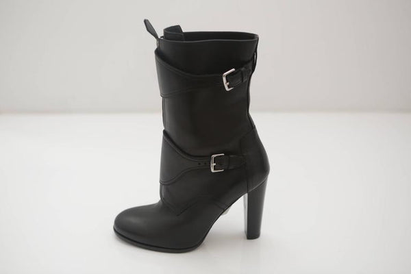 Hermes Black Suede Boots
