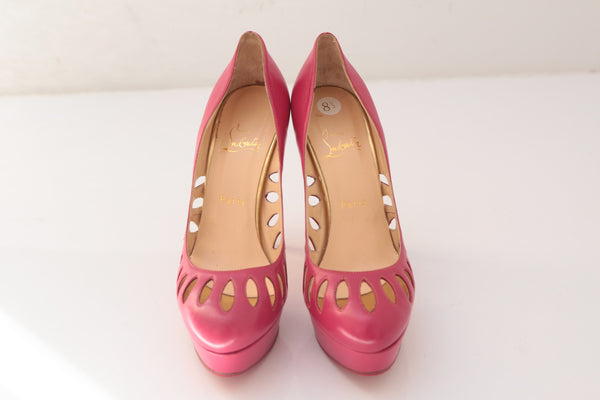 Christian Louboutin Pink Cutout Pumps