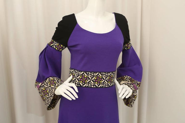 Emilio Pucci Purple/Multi Dress with Bell Sleeves